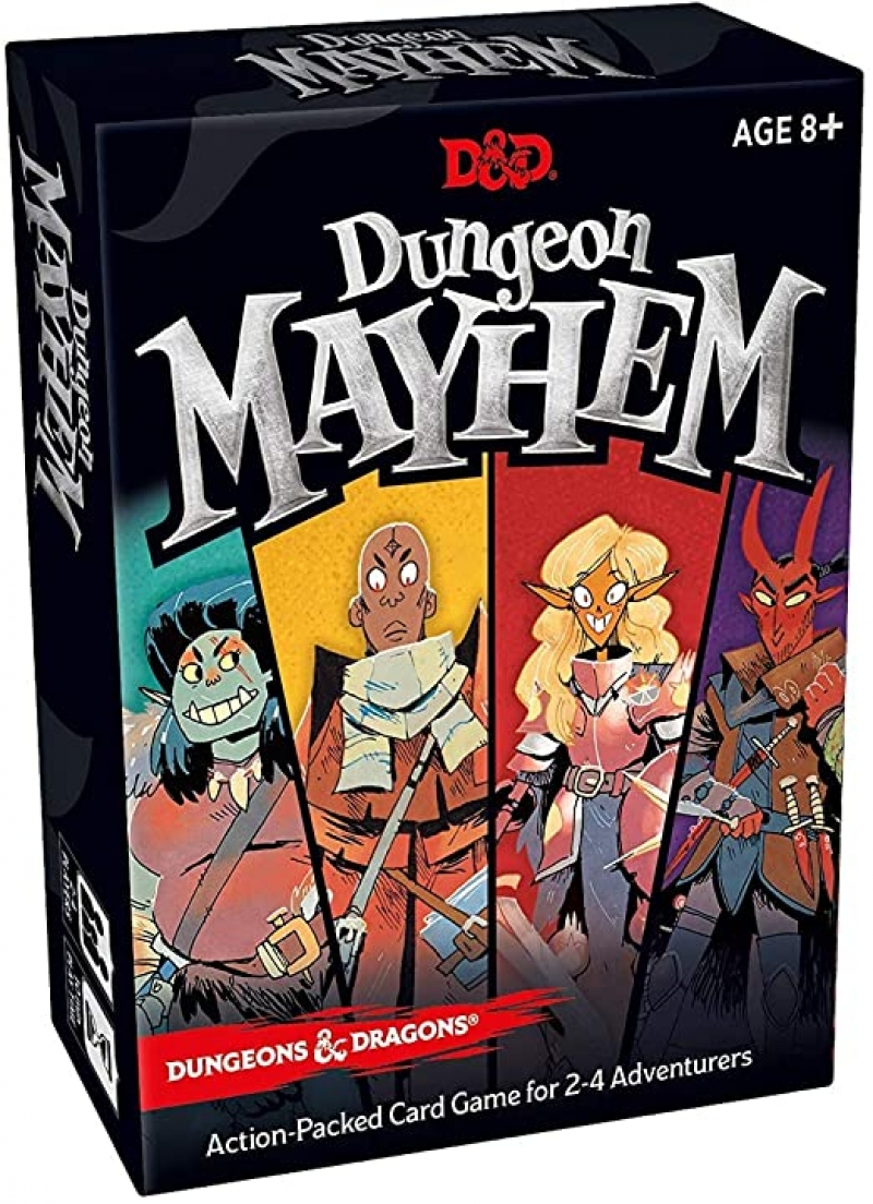 ihocon: Dungeon Mayhem Dungeons & Dragons Card Game | 2–4 Players, 120 Cards 紙牌遊戲