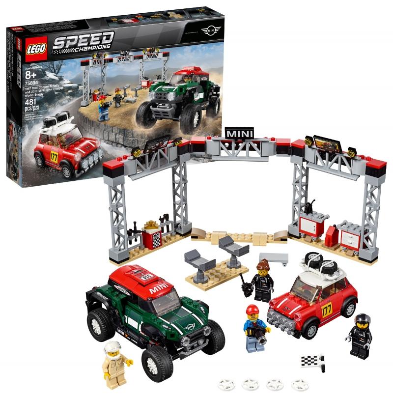 ihocon: 樂高積木LEGO Speed Champions 1967 Mini Cooper S Rally and 2018 MINI J 75894