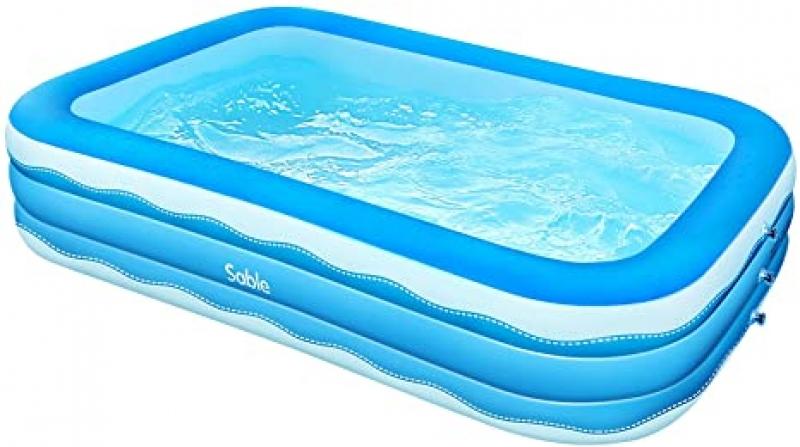 ihocon: Sable Inflatable Pool, 118 x 72 x 22吋 充氣游泳池