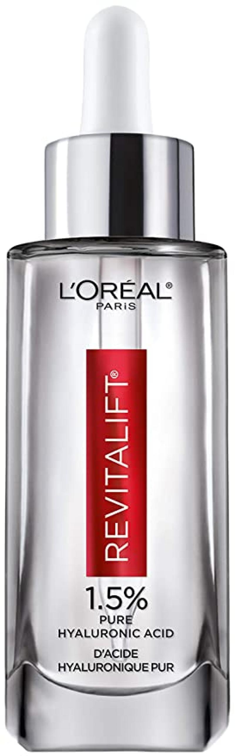 ihocon: L'Oreal Paris Skincare Revitalift Derm Intensives 1.5% Pure Hyaluronic Acid Face Serum, 1.7 Oz 歐萊雅玻尿酸精華液