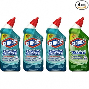 ihocon: Clorox Toilet Bowl Cleaner with Bleach Variety Pack - 24 Ounces Each, 4 Pack 馬桶清潔劑