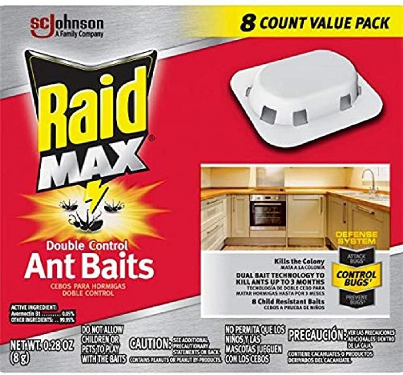 ihocon: Raid Max Double Control Ant Baits, 0.28 oz, 8 CT 螞蟻藥
