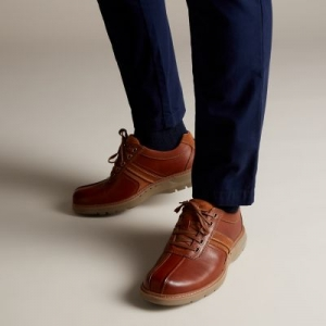 ihocon: Clarks Un Ramble Go Dark Tan Leather 男鞋