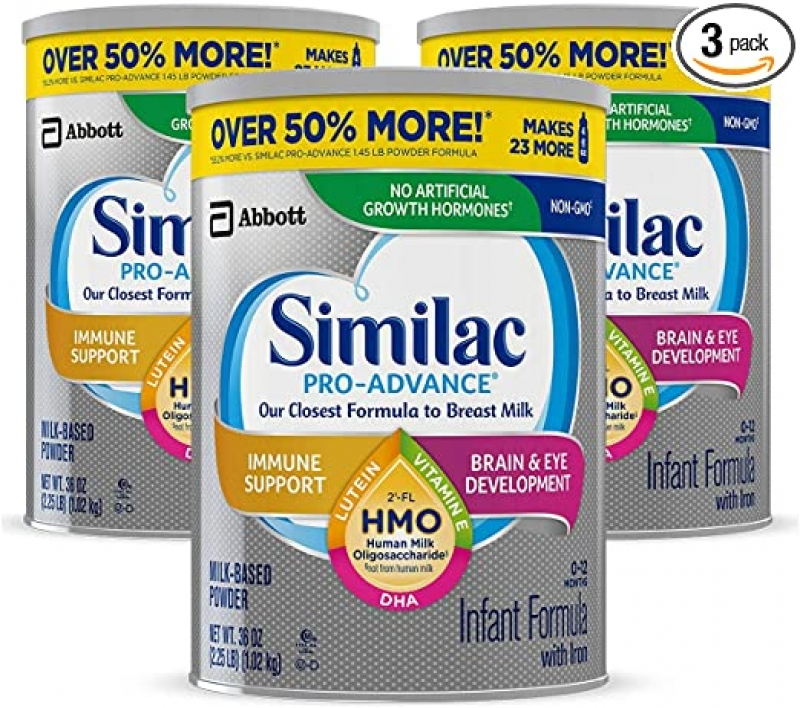 ihocon: Similac Pro-Advance Non-GMO Infant Formula with Iron, 36 Oz, Pack of 3 嬰兒奶粉