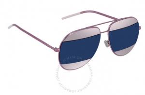 ihocon: Dior Split Violet, Blue Mirror Aviator Unisex Sunglasses 太陽眼鏡