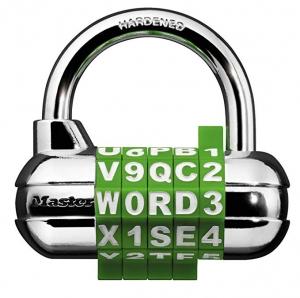 ihocon: Master Lock 1534D Locker Lock Set Your Own Word Combination Padlock, 1 Pack, Assorted Colors  字母數字組合鎖