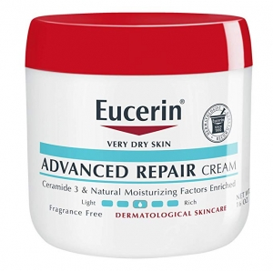 ihocon: Eucerin Advanced Repair Cream - Fragrance Free, Full Body Lotion for Very Dry Skin - 16 oz. Jar 無香精皮膚修復霜