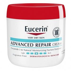 ihocon: Eucerin Advanced Repair Cream - Fragrance Free, Full Body Lotion for Very Dry Skin - 16 oz. Jar 無香精皮膚修復霜