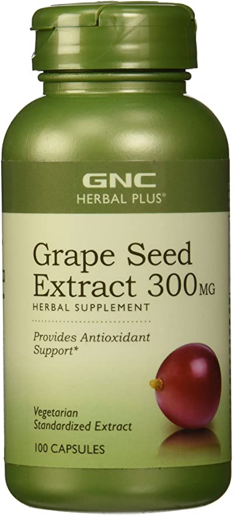 ihocon: GNC Herbal Plus Grape Seed Extract for Antioxidant Support, 300 mg - 100 Count   葡萄籽