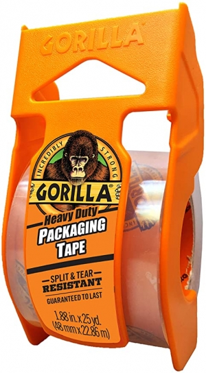 ihocon: Gorilla Heavy Duty Packing Tape with Dispenser for Moving, Shipping and Storage, 1.88 x 25 yd, Clear, (Pack of 1) 重型封箱膠帶含膠台