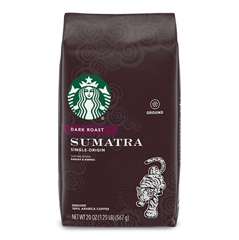 ihocon: Starbucks Dark Roast Ground Coffee — Sumatra — 100% Arabica — 1 bag (20 oz.)