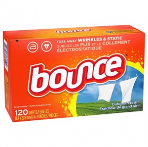 ihocon: Bounce Fabric Softener Dryer Sheets for Static Control, Outdoor Fresh Scent, 120 Count 烘衣紙