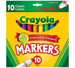ihocon: Crayola Marker Set, 10-Colors 彩色筆