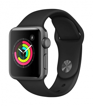 ihocon: AppleWatch Series3 (GPS, 38mm) - Space Gray Aluminium Case with Black Sport Band