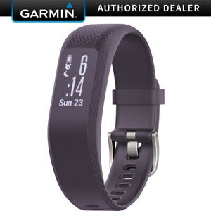 ihocon: Garmin Vivosmart 3 Fitness/Activity Tracker with Smart Notifications & Heart Rate Monitoring (Small/Medium) (Purple) 心率/運動追踪智能手環