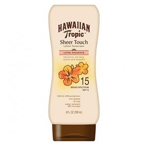 ihocon: Hawaiian Tropic Sheer Touch Lotion Sunscreen, Moisturizing Broad-Spectrum Protection, SPF 15, 8 Ounces 防曬乳
