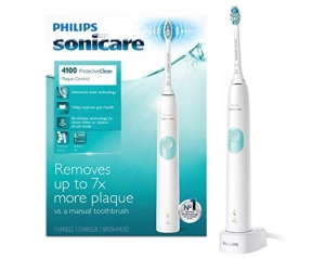 ihocon: Philips Sonicare ProtectiveClean 4100 Electric Rechargeable Toothbrush, Plaque Control, White 飛利浦牙菌斑控制電動牙刷