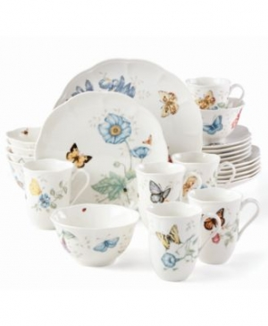 ihocon: Lenox Butterfly Meadow 24-PC Dinnerware Set Service for 6 餐盤組