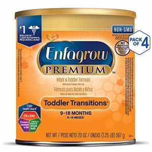 ihocon: Enfagrow PREMIUM Toddler Transitions Baby Formula Milk Powder, 20 Ounce (Pack of 4), Omega 3 DHA, Iron  幼兒過渡奶粉