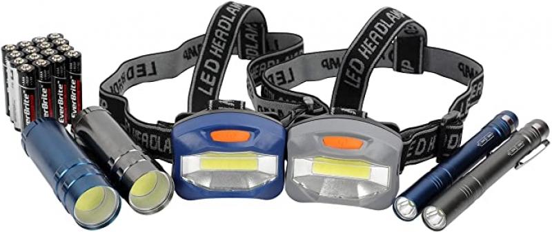 ihocon: LED Flashlight, Penlight, & Headlamp Combo 頭燈, 手電筒, 筆燈, 含電池