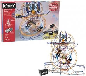 ihocon: K'NEX Thrill Bionic Blast Roller Coaster with Ride It App 809-Pieces Building Set 雲霄飛車組合玩具