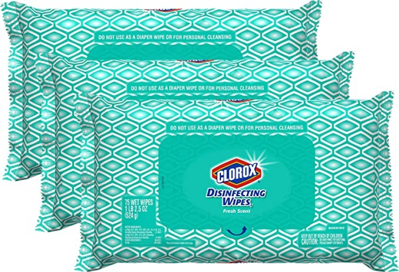 ihocon: Clorox Disinfecting Bleach Free Cleaning Wipes, 75 Wipes, Pack of 3 消毒濕巾