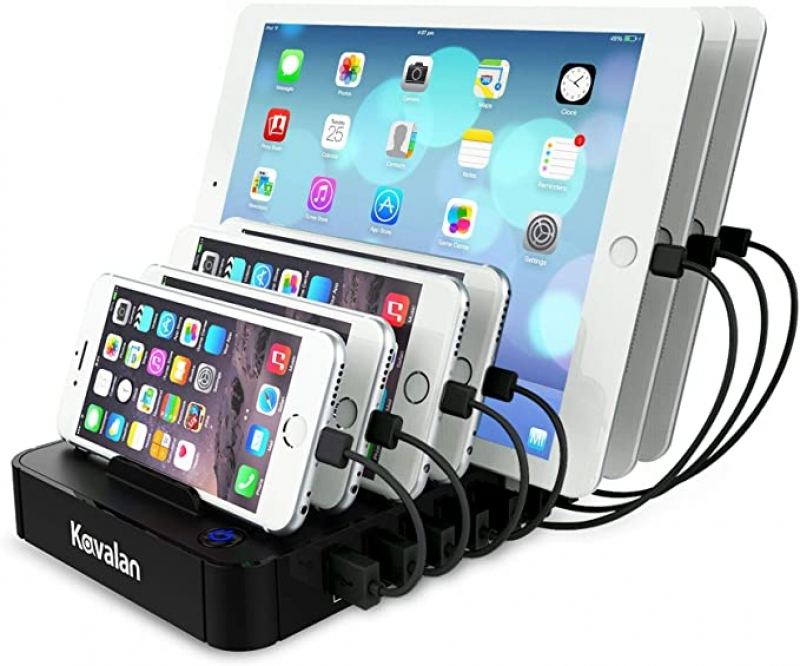 ihocon: Kavalan 7 Port USB Charging Station 平板電腦/手機多設備充電座