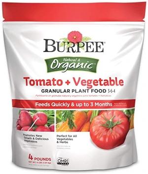 ihocon: Burpee Organic Tomato and Vegetable Granular Plant Food, 4 lbs 有機番茄/蔬菜肥料