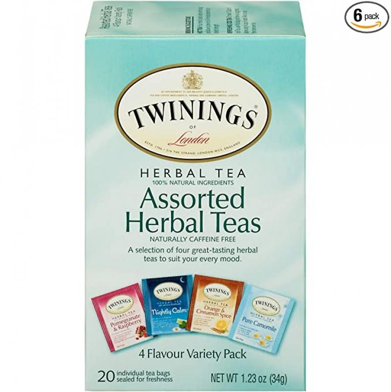ihocon: Twinings of London Assorted Herbal Tea Bags, 20 Count (Pack of 6) 茶包