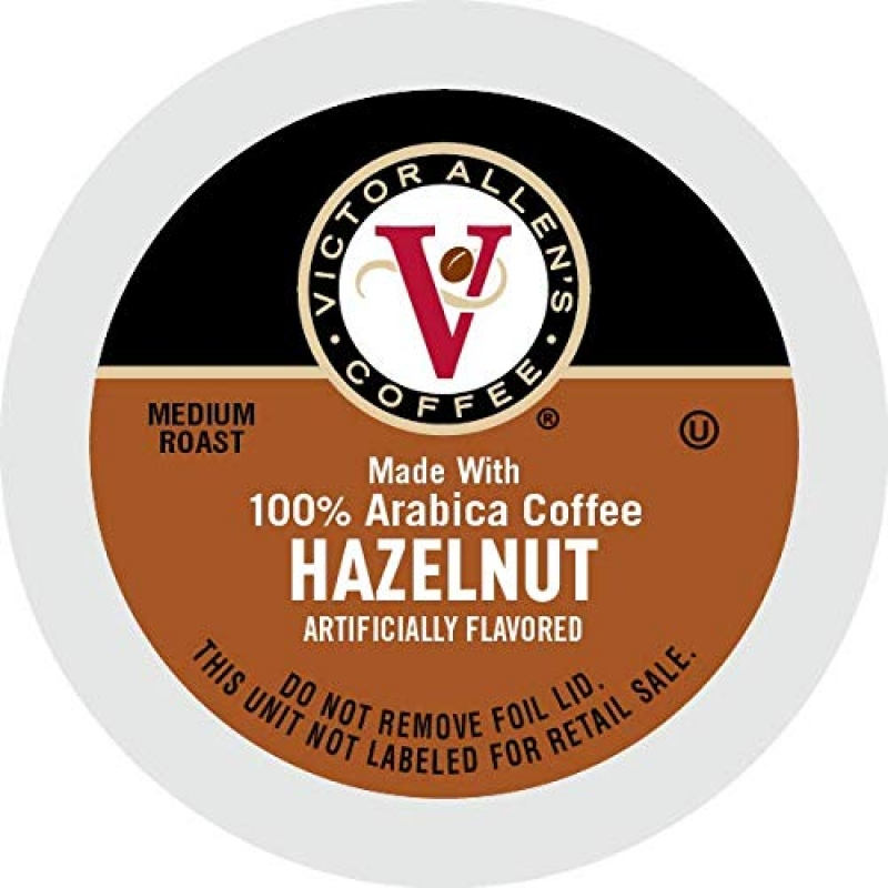 ihocon: Victor Allen's Coffee K Cups, Hazelnut Single Serve Medium Roast Coffee, 80 Count咖啡膠囊