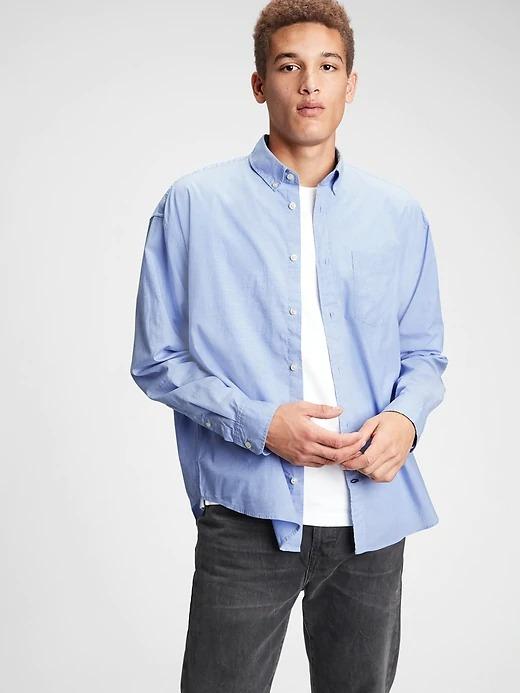 ihocon: Gap Big Shirt 男士襯衫
