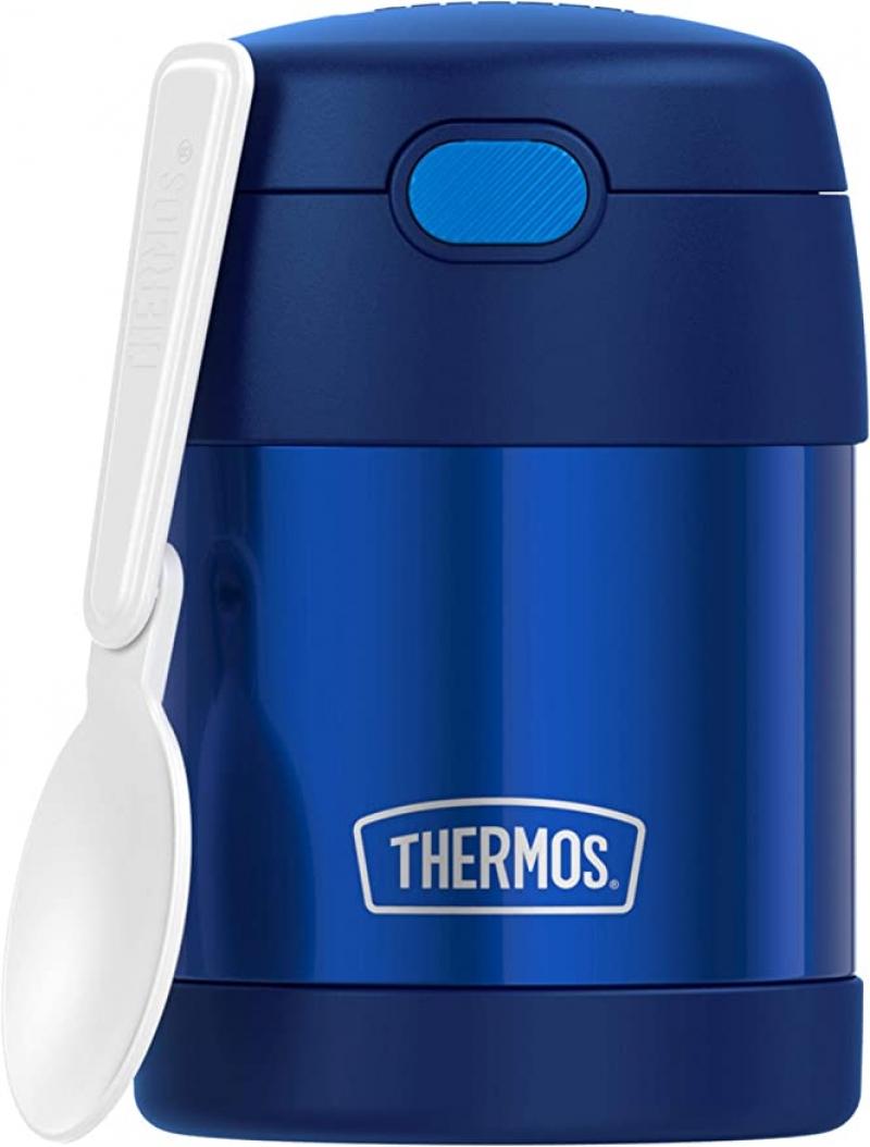 ihocon: THERMOS FUNTAINER 10 Ounce Stainless Steel Vacuum Insulated 不銹鋼保温食品罐/便當罐, 附折疊湯匙
