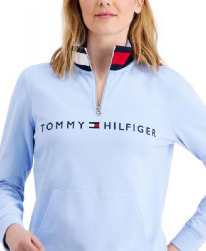 ihocon: Tommy Hilfiger Mock-Neck Pullover Top 女士長袖衫-多色可選