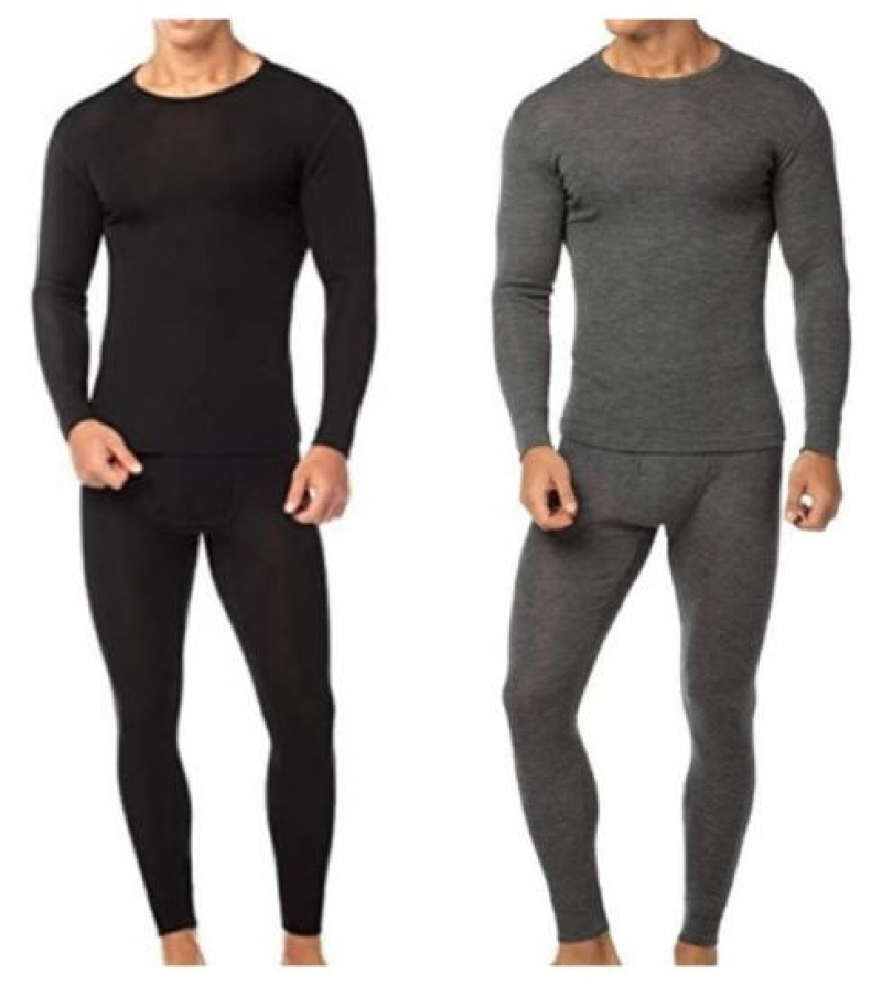 ihocon: Nextex 4-Piece Men's Cotton Fleece Thermal Sets男士純棉衛生衣,褲2套