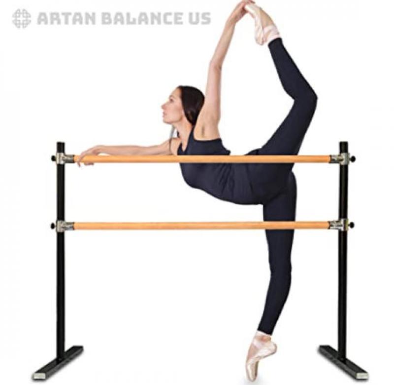 ihocon: Artan Balance Ballet Barre Portable for Home or Studio 芭蕾練習桿