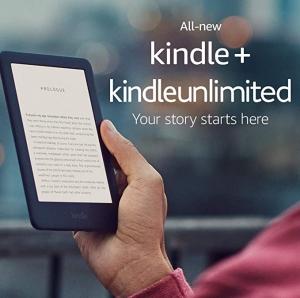 All-new Kindle 6″ 4GB, 內建前燈 $59.99免運(原價$89.99), 可選送3個月免費Kindle Unlimited