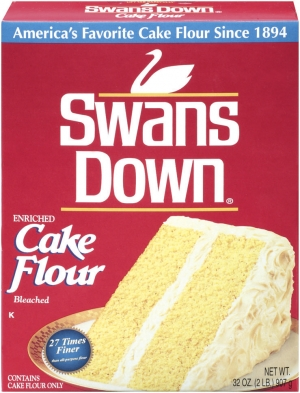 ihocon: Swans Down Enriched, Bleached Cake Flour, 32 oz (2 pack) 低筋麵粉 - 適合做蛋糕