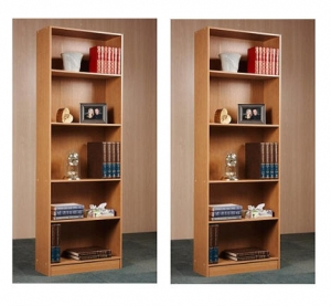 ihocon: Orion 5-Shelf Bookcase, Multiple Finishes (Set of 2) 五層書架2個