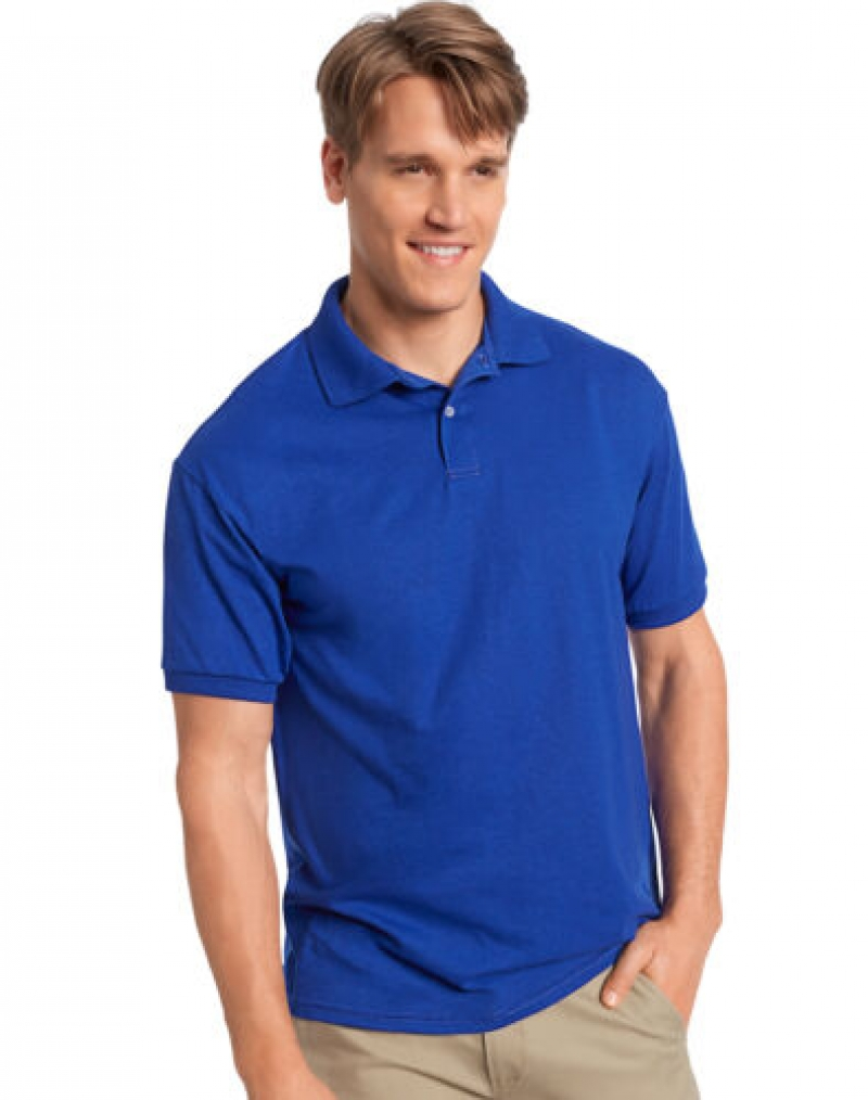 ihocon: Hanes Golf Tee Men's Polo Shirt Cotton-Blend  男士短袖衫-多色可選