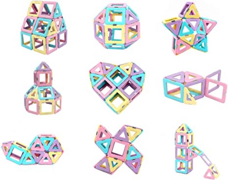ihocon: FUTURE MIRCALE Magnetic Tiles Building Blocks Toys, 40 Pcs 磁性積木
