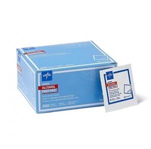 ihocon: Medline Sterile Medium Prep Pads 70% Isopropyl Alcohol Antiseptic 200 Count 酒精消毒紙