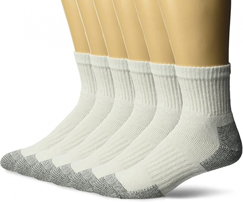 ihocon: Fruit of the Loom Men's 6 Pair Crew Socks 男襪