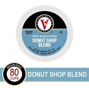 ihocon: Victor Allen Coffee Donut Shop Single Serve K-cup, 80-Count咖啡膠囊
