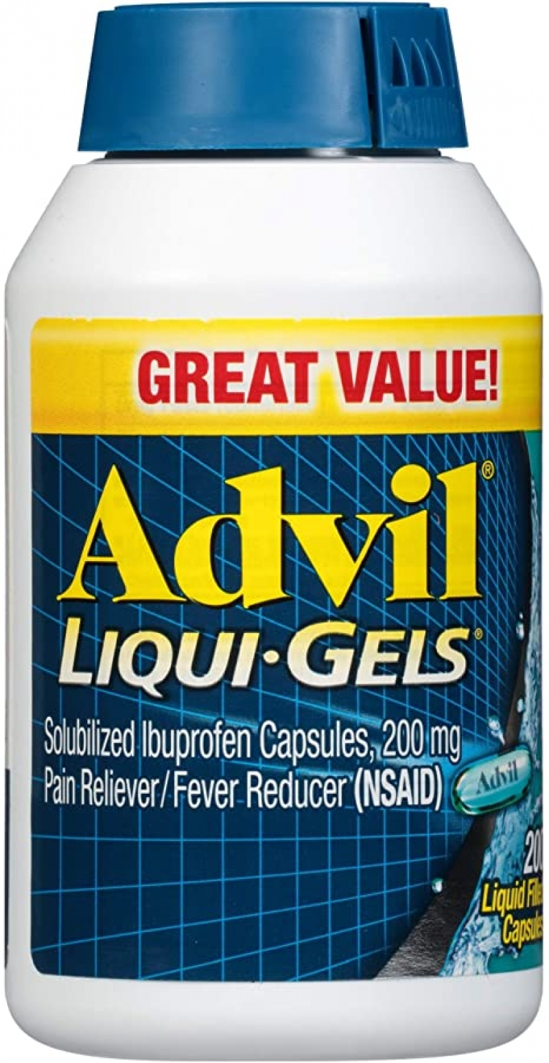 ihocon: Advil Pain Reliever and Fever Reducer, Solubilized Ibuprofen Mg, Liquid Fast Pain Relief,200 Count 止痛/退燒藥