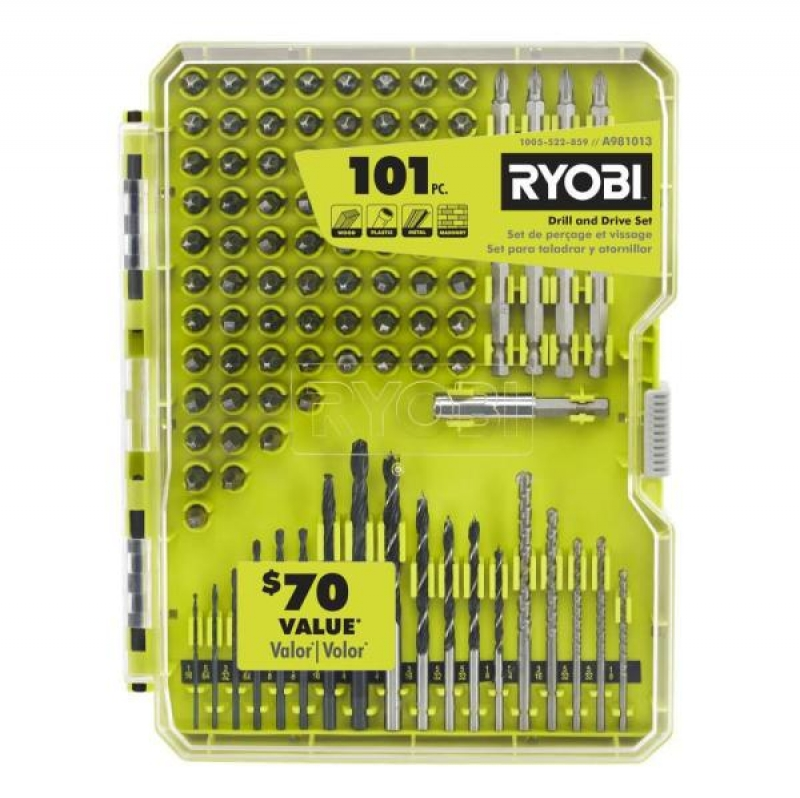 ihocon: RYOBI 101-Piece Drill and Drive Set 電鑽及螺絲起子頭