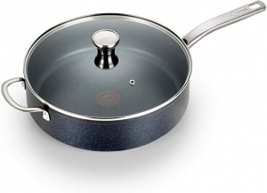 ihocon: T-fal G10482 Heatmaster Nonstick Thermo-Spot Heat Indicator Cooker with Lid Cookware, 5-Quart 熱點顯示含蓋不粘鍋