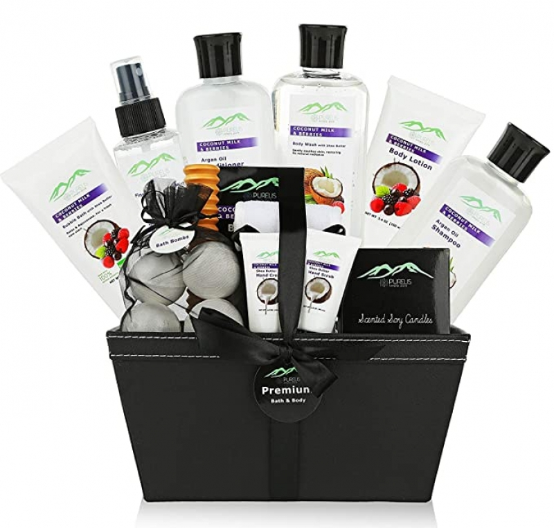 ihocon: Purelis 18-Piece Premium Bath & Body Gift Basket 禮籃