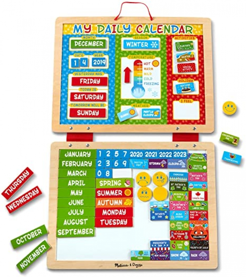 ihocon: 幼兒學習玩具 Melissa & Doug My First Daily Magnetic Calendar 磁性日曆