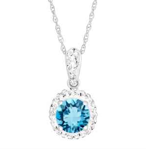 ihocon: March Pendant with Light Blue Swarovski Crystal