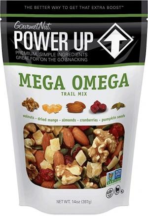 GourmetNut Mega Omega Trail Mix, 14 Oz $4.73